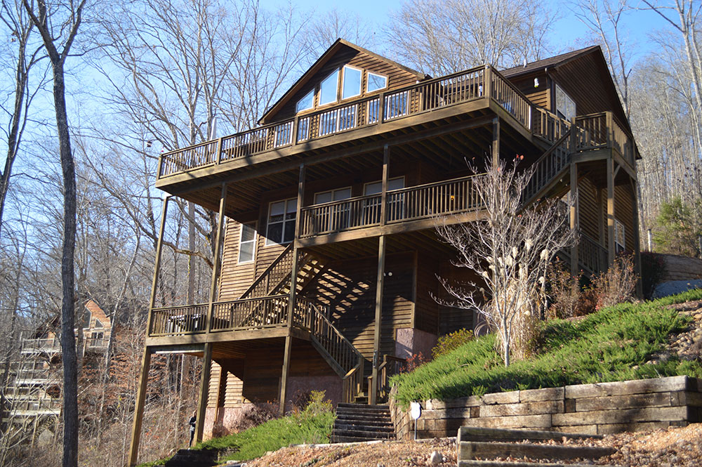 Norris Lake Cabin Rentals | Happy House Lakeside Cabin View from Deck | Norris Lake Villas