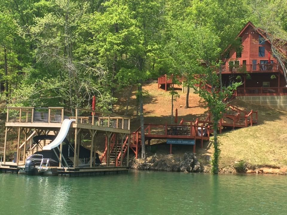 Norris Lake Cabin Rentals | Knopp's Landing View from Dock | Norris Lake Villas