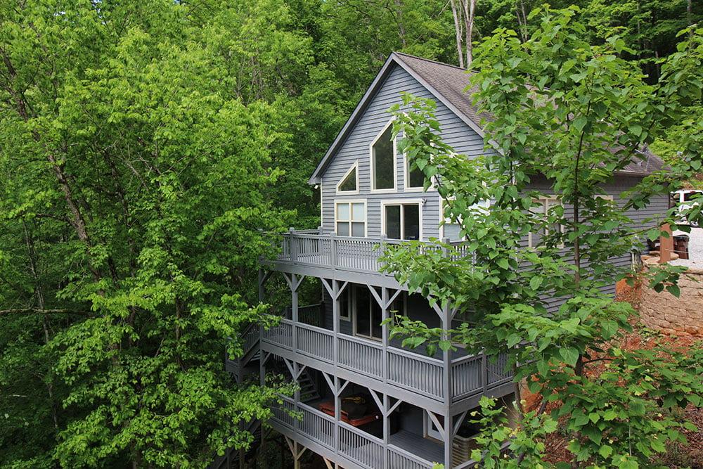 Norris Lake Villas | Norris Lake Cabin Rentals | Rustic Heaven Lakeside Cabin