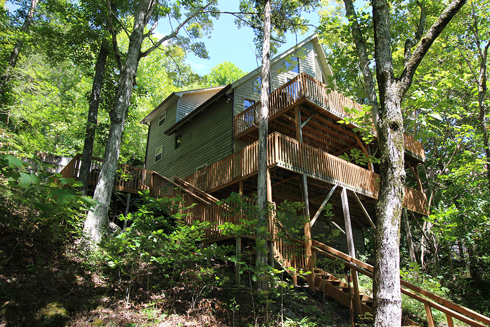 Norris Lake Cabin Rentals | Harmony Hill Lakeside View from Dock | Norris Lake Villas