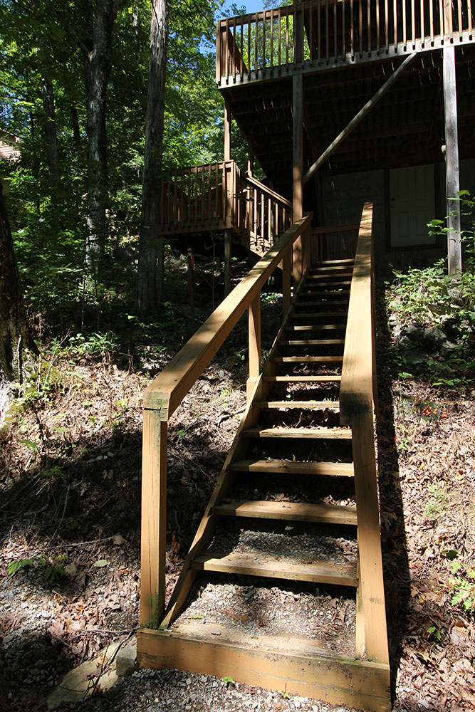 Norris Lake Cabin Rentals | Harmony Hill Lakeside Cabin View from Dock | Norris Lake Villas