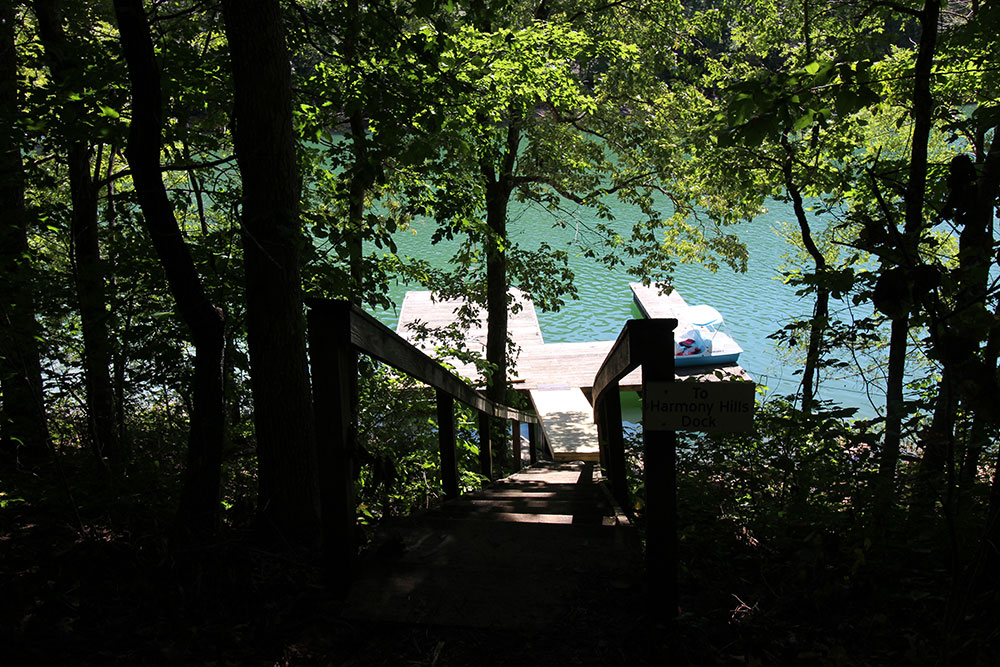 Norris Lake Cabin Rentals | Harmony Hill Lakeside View of Dock | Norris Lake Villas