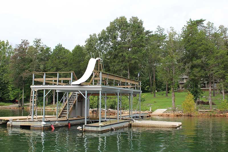 Norris Lake Cabin Rentals   Knot 4 Reel Lakeside Cabin Dock   Norris Lake Villas