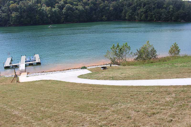 Norris Lake Cabin Rentals | J&J's Getaway Cabin View from the Lake | Norris Lake Villas