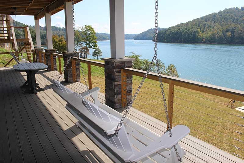 Norris Lake Cabin Rentals | J&J's Getaway Cabin Porch Swing | Norris Lake Villas