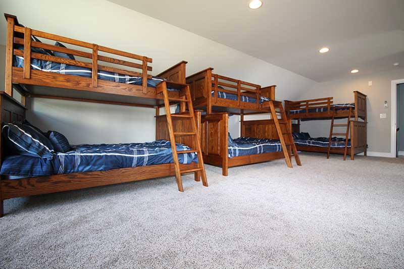 Norris Lake Cabin Rentals | J&J's Getaway Cabin Bunk Beds | Norris Lake Villas