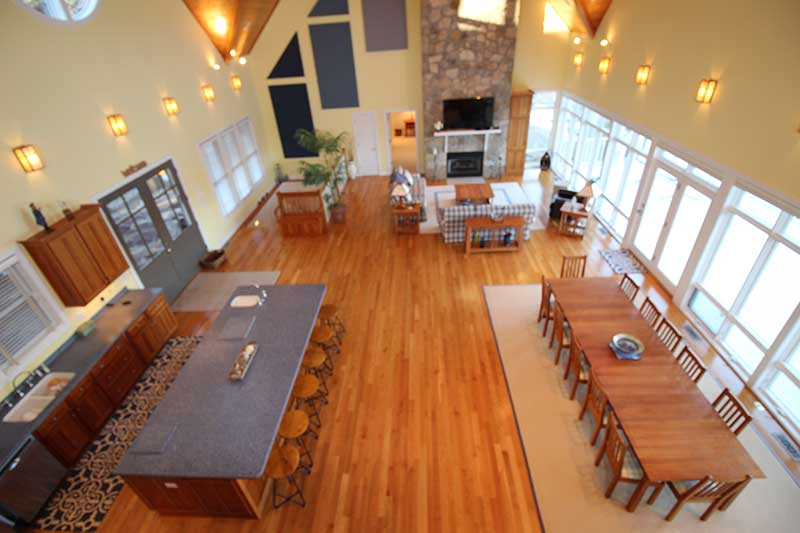 Norris Lake Cabin Rentals | Field of Dreams Cabin Great Room | Norris Lake Villas