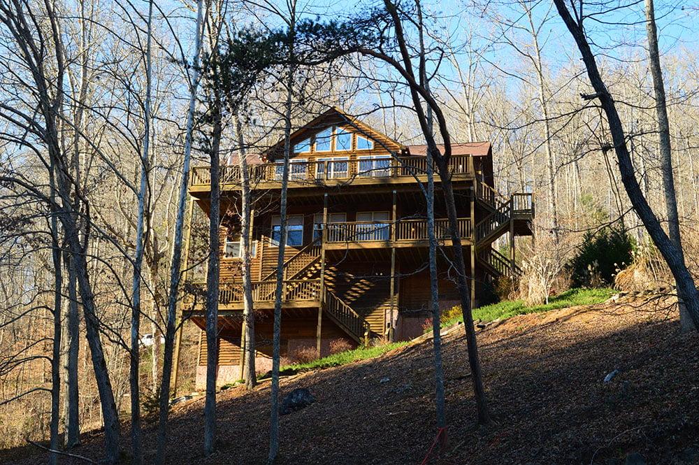 Norris Lake Cabin Rentals   Happy House Lakeside Cabin   Norris Lake Villas