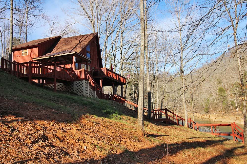 Norris Lake Cabin Rentals | Knopp's Landing Lakeside Cabin | Norris Lake Villas