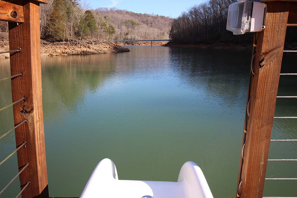 Norris Lake Cabin Rentals | Knopp's Landing View from Slide | Norris Lake Villas