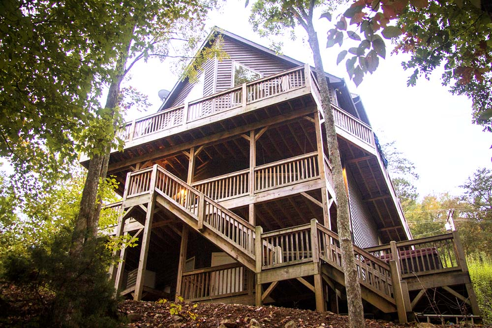 Norris Lake Villas | Norris Lake Cabin Rentals | Shady Grove Lakeside Cabin View From Dock