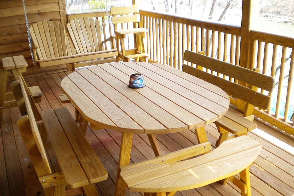 Norris Lake Cabin Rentals | Slice of Heaven Lake Side Cabin Upper Deck | Norris Lake Villas